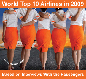 World Top 10 Airlines in 2009